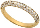 Crislu 18K Gold Plated Sterling Silver 3 Row CZ Pave Ring