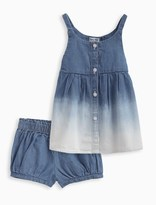 Splendid Baby Girl Bleach Denim Dress and Bloomer