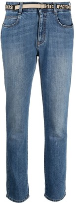 Stella McCartney Logo-Tape Slim-Fit Jeans