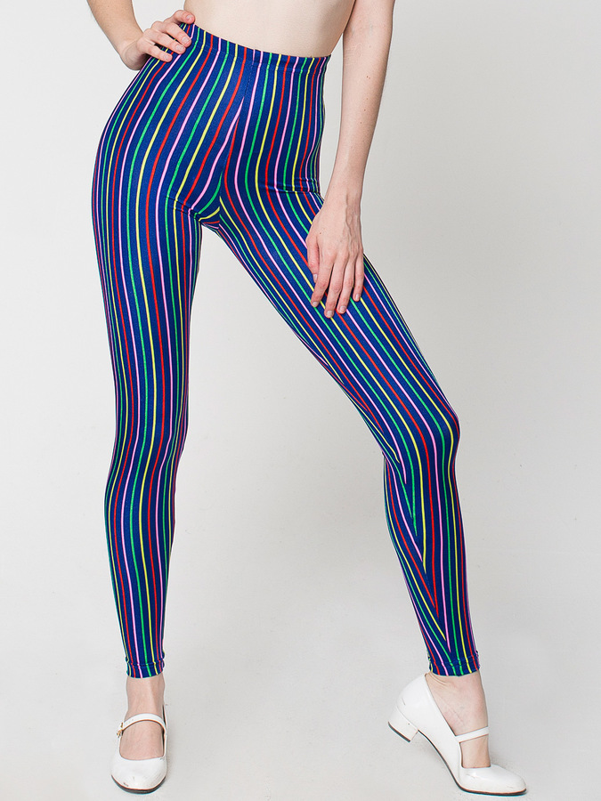 American Apparel Striped Nylon Leggings