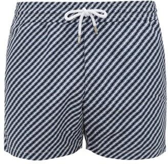 Frescobol Carioca Lightning-print Sport-fit Swim Shorts - Blue Multi