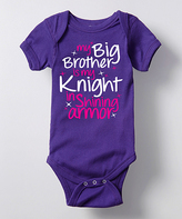 Purple 'Big Brother Is My Knight' Bodysuit - Infant