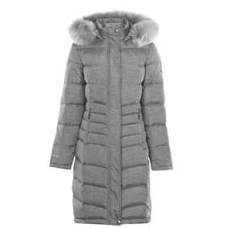 Karrimor Womens Long Down Jacket Grey Marl (M) 12