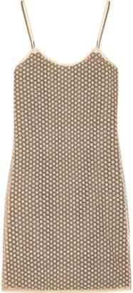Diane von Furstenberg Alvera Metallic Guipure Lace Mini Dress