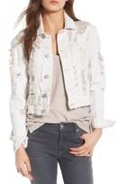 Hudson Women's Garrison Ripped Crop Denim Jacket