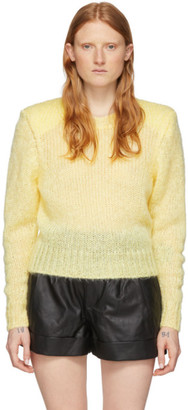 Isabel Marant Yellow Mohair Idona Crewneck Sweater