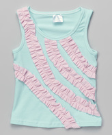 Tutus by Tutu AND Lulu Aqua & Pink Ruffle Stripe Tank - Infant