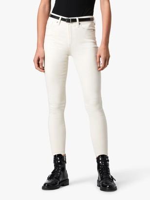 AllSaints Miller Mid-Rise Coated Skinny Jeans