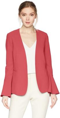 Tahari by Arthur S. Levine Women's Crepe Open Jacket with Tulip Sleeve