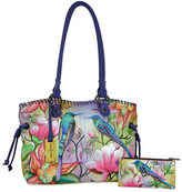 Anuschka Women's Hand Painted Large Drawstring Shopper