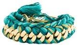Aurelie Bidermann Do Brasil Green Braided Chain Bracelet w/ Tags