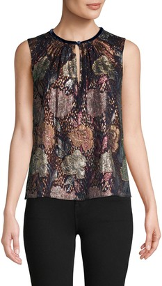 Rebecca Taylor Floral-Print Sleeveless Top