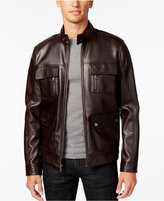 INC International Concepts Men's Faux-Leather Bomber Jacket, Only at Macy's