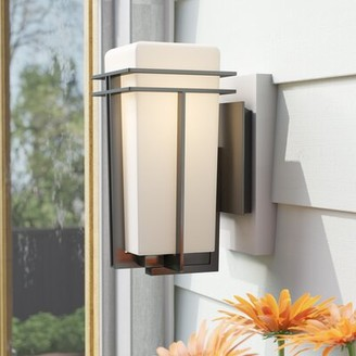 Latitude Run Cattalina 1 Bulb Hardwired Outdoor Armed Sconce Shade Finish Clear Size 11 5 H X 5 W X 8 5 D Fixture Finish White Shopstyle
