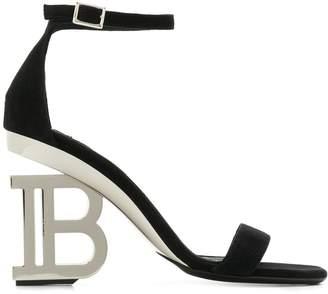 Balmain monogram heel 95mm sandals