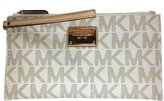 Michael Kors Signature Fulton PVC Top Zip Clutch / Wristlet