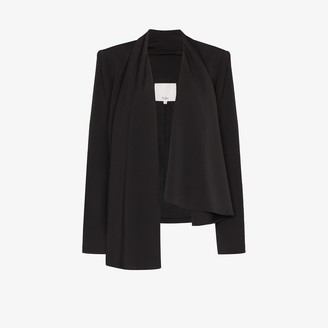 Tibi Draped Open Front Blazer Jacket