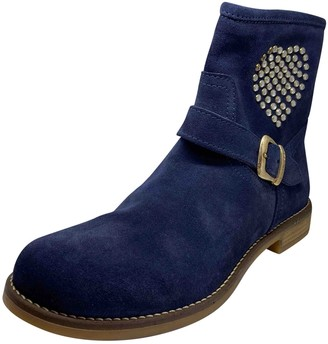 Twin-Set Twin Set Blue Suede Boots