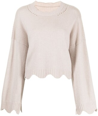 3.1 Phillip Lim Crew-Neck Scalloped Jumper