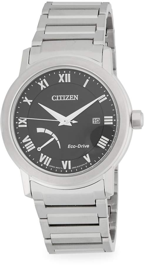 Citizen Men's Stainless Steel Eco-Drive Analog Bracelet Watch