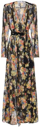 ATTICO Floral Print Chiffon Long Dress