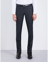 The Kooples Checked Slim-fit Wool Trousers