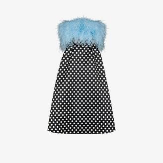 Richard Quinn Feather Bodice Polka Dot Dress