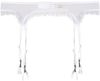 Myla Sheer Ruffle Trimming Suspender