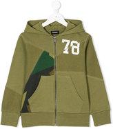 Diesel panel zip hoodie