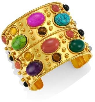 Sylvia Toledano Byzance 22K Yellow Goldplated & Multi-Stone Cuff