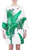 Dolce & Gabbana Embellished Banana-Leaf Cotton & Silk Brocade Coat