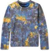 Issey Miyake Slim-fit Tie-dyed Cotton-blend Seersucker T-shirt