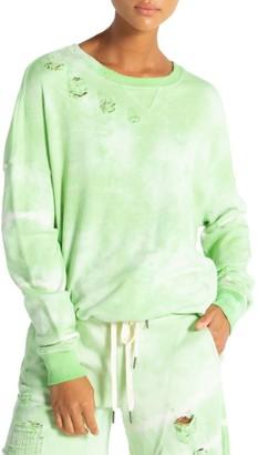 n:philanthropy Olympia Distressed Tie-Dye Sweatshirt
