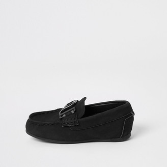 River Island Mini boys black RI driver shoes