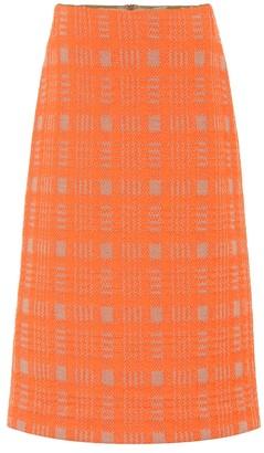 Dries Van Noten Checked wool-blend skirt