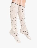 Kali Tipped Pindot Knee Sock