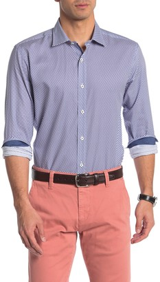 Bugatchi Shaped Fit Long Sleeve Button-Down Shirt