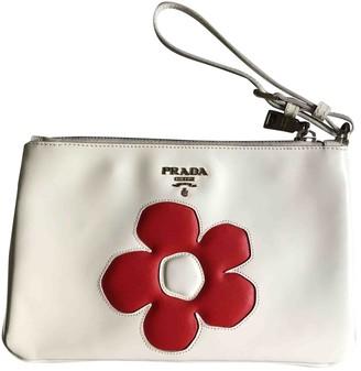 Prada White Patent leather Clutch bags
