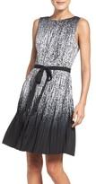 Adrianna Papell Petite Women's Pleat Fit & Flare Dress