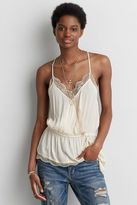 American Eagle Outfitters AE Lace Peplum Cami