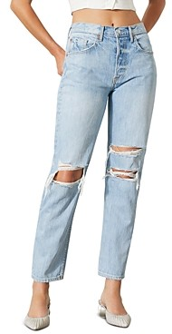 GRLFRND Mica Ripped Straight Leg Jeans in Wish You Would