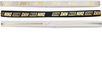 Nike Womens Metallic Hairbands 2.0 Three Pack White/White/Black