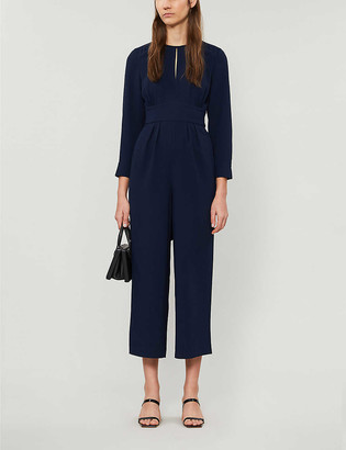 Whistles Petra cropped crepe jumpsuit