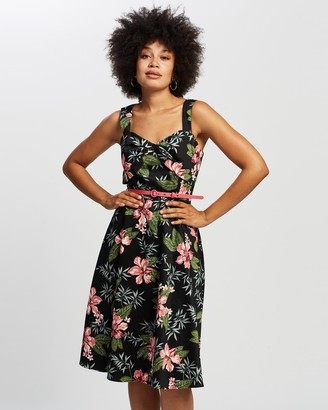 Review Women's Multi Floral Dresses - Sunset Island Dress - Size One Size, 8 at The Iconic