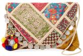 Antik Batik Aden Embroidered Cotton Convertible Clutch
