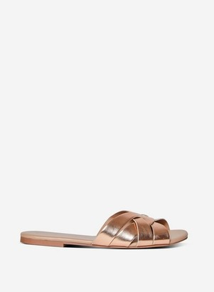 Dorothy Perkins Womens Rose Gold 'Fennel' Flat Mules, Rose Gold