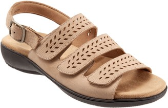 Trotters Adjustbale Banded Leather Sandals - Trinity