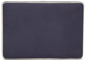 Hunting Season The Square Compact Satin Clutch - Womens - Navy