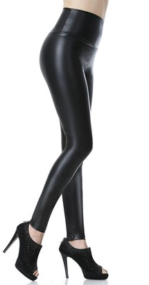 Everbellus Womens High Waisted Faux Leather Leggings Black Small