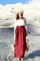 Shabby Apple First Snow Skirt Burgundy